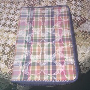 Coach iPad Mini zip around case